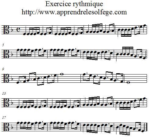Exercice rythmique binaire 6 ut3