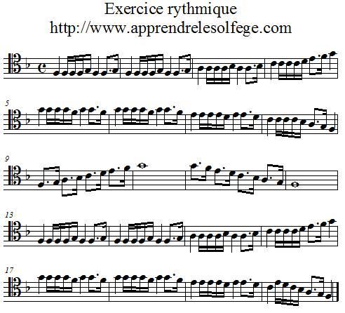 Exercice rythmique binaire 6 ut4
