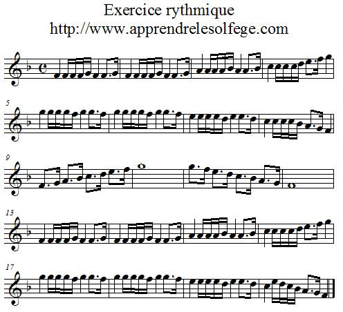 Exercice rythmique binaire 6