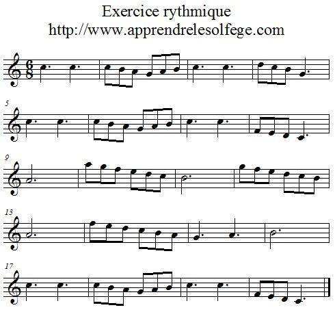 Exercice rythmique ternaire 1
