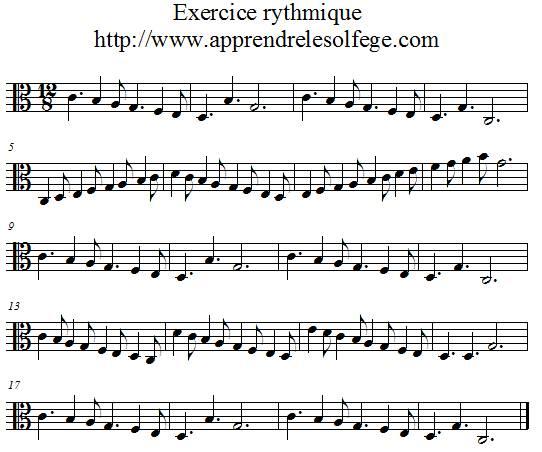 Exercice rythmique ternaire 2 UT 3