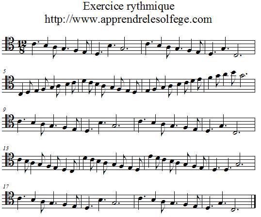 Exercice rythmique ternaire 2 UT 4