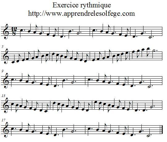Exercice rythmique ternaire 2