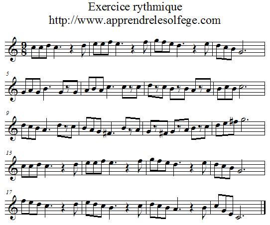 Exercice rythmique ternaire