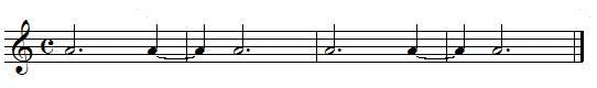 Exercices rythmiques, blanches pointées et demi-pauses pointées