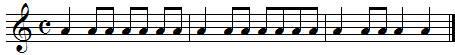 Exercice rythmique autour des croches