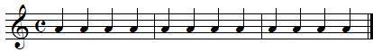 Exercices de rythme, les noires et les silences