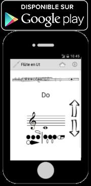 Application android pour les doigtés de la flûte traversière