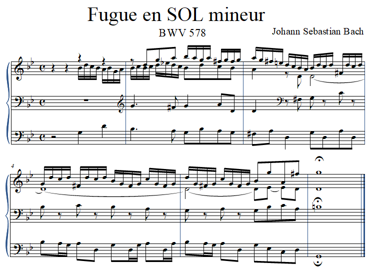 fugue en SOL mineur BWV 578 - Johann Sebastian Bach