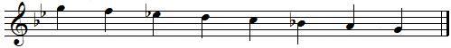 SOL mineur mélodique descendante