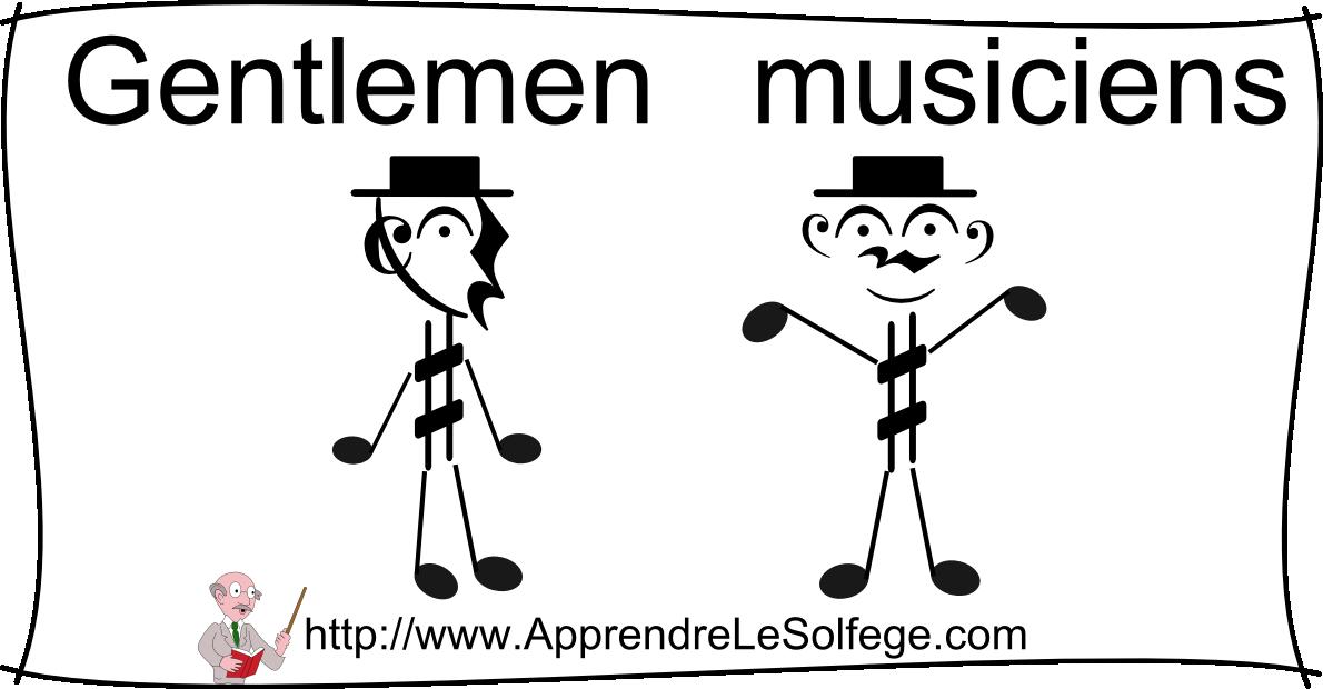 Gentlemen musiciens