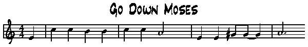 Go down moses tablature guitare