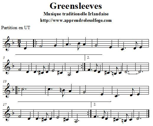 Greensleeves partition en UT