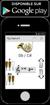 Application android pour les doigtés du cor