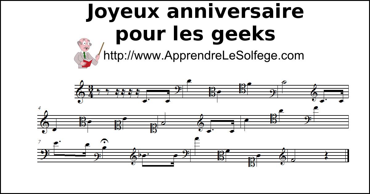 Joyeux anniversaire pour les geeks