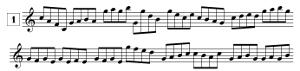 Exercices de lecture de note pour saxophone, avec points de repère