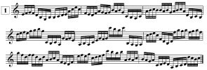 Lecture de notes pour violon à imprimer, En doubles-croches (de G3 à C6)