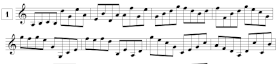 Lecture de notes pour violon en croches (G3-G5)