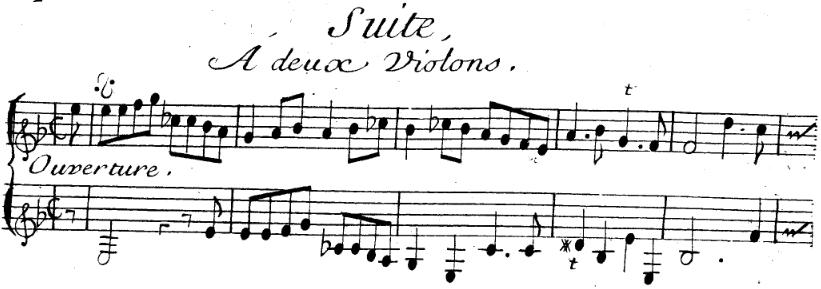 Michel Corrette, Suite pour deux violons en SOL mineur