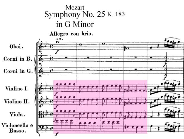 Mozart, symphonie 25 octaves consécutives