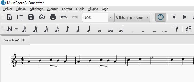 Transposer avec le logiciel Musescore une partition en UT pour un instrument en MI bémol