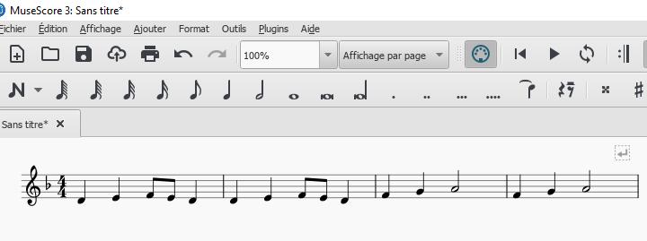 Transposer avec le logiciel Musescore une partition en UT pour un instrument en SI bémol