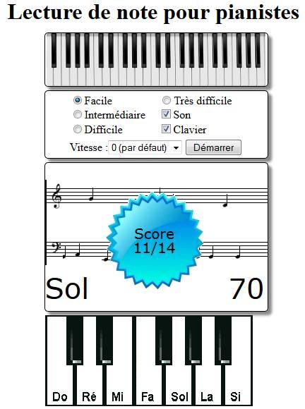 Amélioration du jeu de lecture de note (piano)