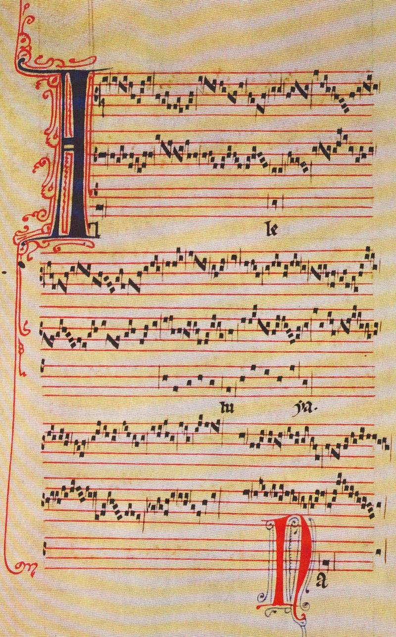 Manuscrit du trope Alleluia nativitas, à 3 voix, de Pérotin