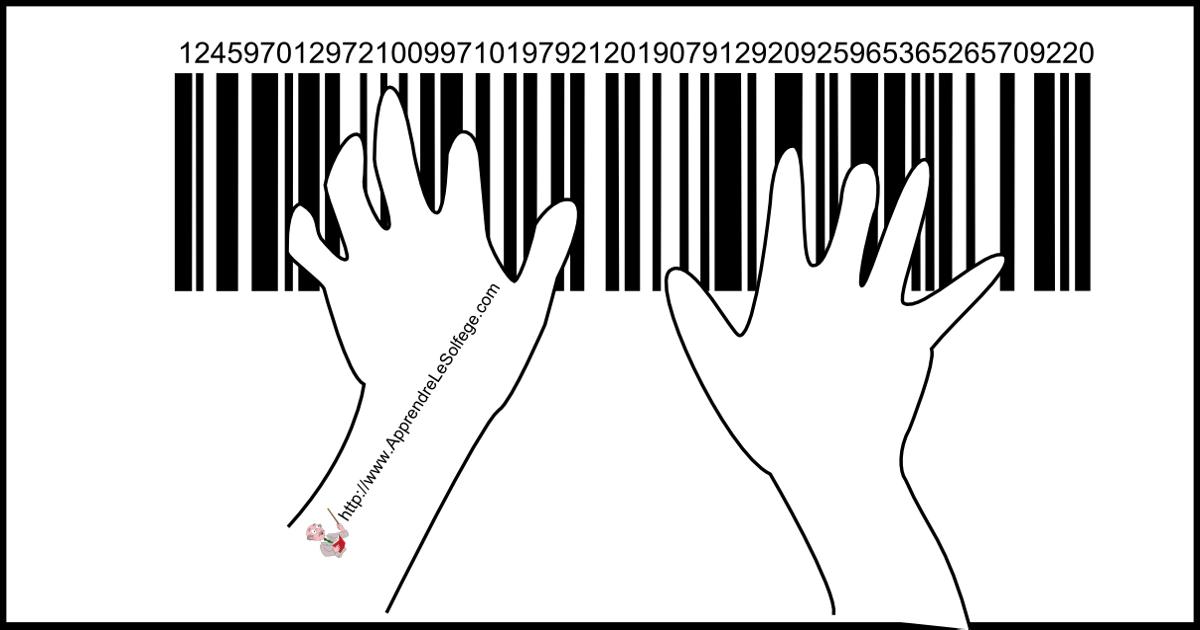 piano, code barre