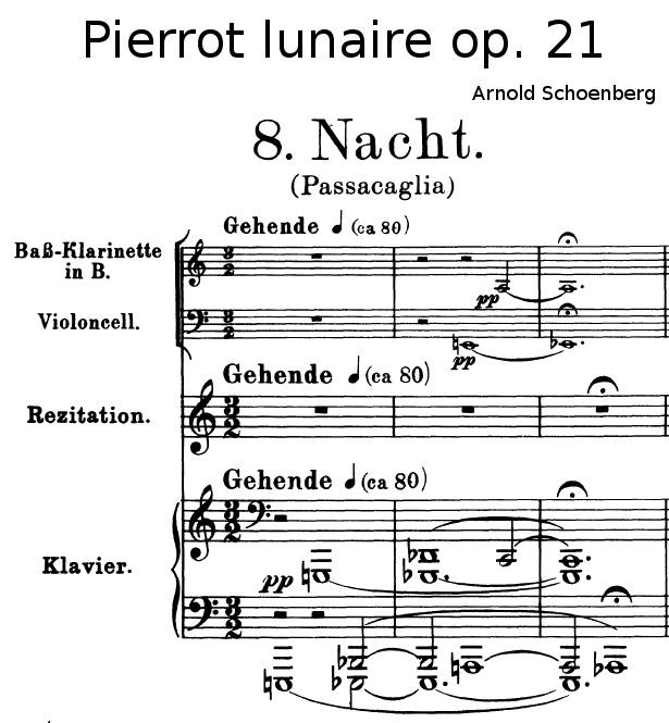 Pierrot Lunaire Arnold Schoenberg