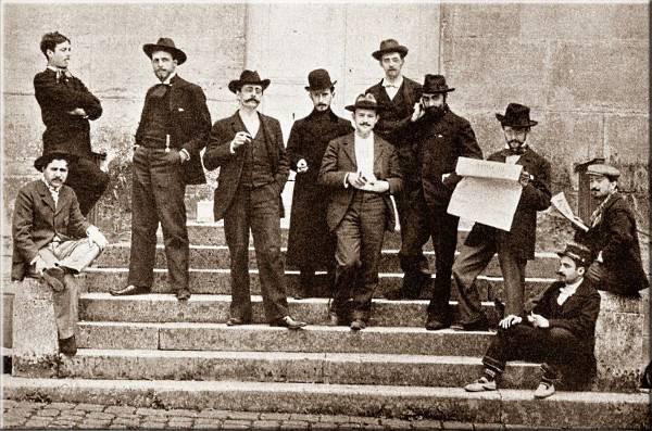 les 11 candidats au concours d'essai du Prix de Rome 1900
