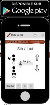Application android pour les doigtés de la flûte à bec