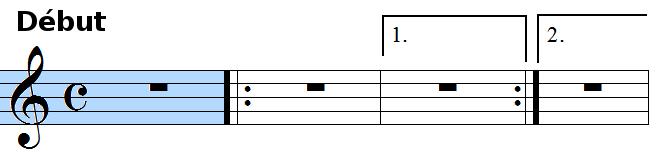 barres de reprise avec cadre 1 et 2