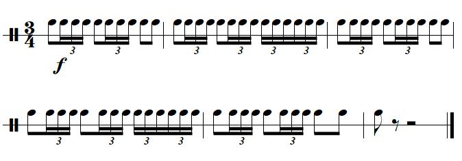Le rythme du bolero de Ravel