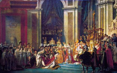 Le Sacre de Napoléon, Jacques-Louis David, 1806 et 1807, musée du Louvre.