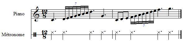 septuolets, exemple en ternaire