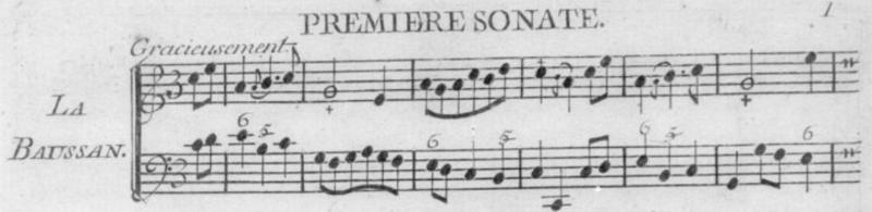 Sonate La Baussan, extrait de 6 Sonatas, Op.2, Philibert de La Vigne