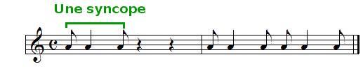 la syncope, exemple sonore