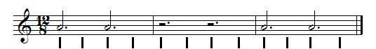 blanches pointées en ternaire