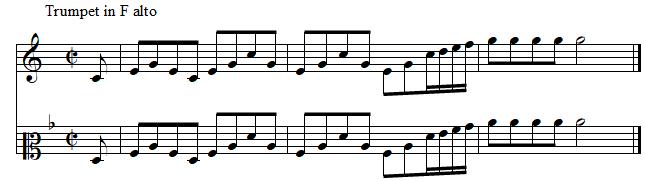trompette, concerto brandebourgeoisn°2 de J.S. BACH