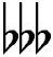 Symbole du triple bémol