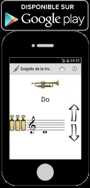 Application android pour les doigtés de la trompette