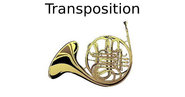 Transposition pour cor en FA