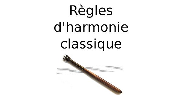 Règles d'harmonie classique
