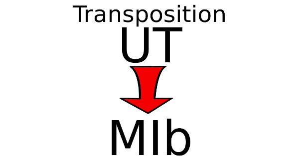 Transposer une partition en UT pour un instrument en MI bémol