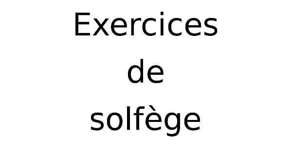Jeux Et Exercices De Solfege Apprendre Le Solfege