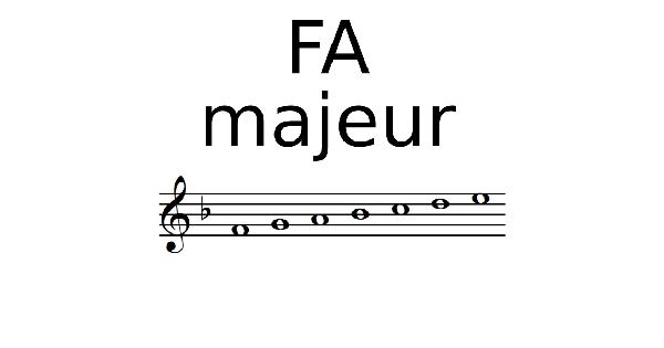 Gamme de FA Majeur