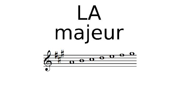Gamme de LA Majeur