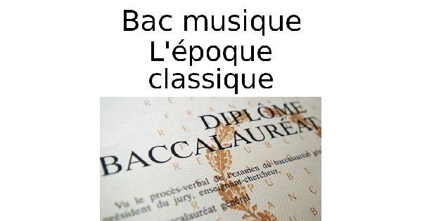 L'époque classique en musique