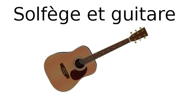 Solfège et guitare
